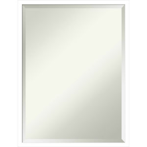Svelte White 19W X 25H-Inch Bathroom Vanity Wall Mirror
