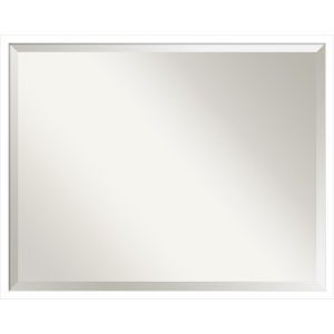 Svelte White 29W X 23H-Inch Bathroom Vanity Wall Mirror
