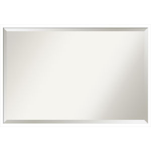 Svelte White 37W X 25H-Inch Bathroom Vanity Wall Mirror