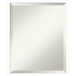 Svelte White 17W X 21H-Inch Bathroom Vanity Wall Mirror