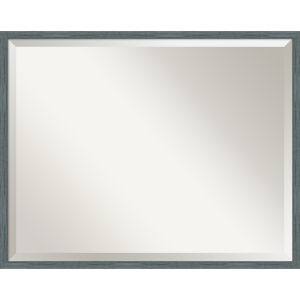 Dixie Blue and Gray 29W X 23H-Inch Bathroom Vanity Wall Mirror