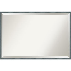 Dixie Blue and Gray 37W X 25H-Inch Bathroom Vanity Wall Mirror
