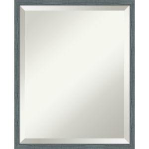 Dixie Blue and Gray 17W X 21H-Inch Bathroom Vanity Wall Mirror