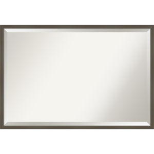 Svelte Gray 37W X 25H-Inch Bathroom Vanity Wall Mirror