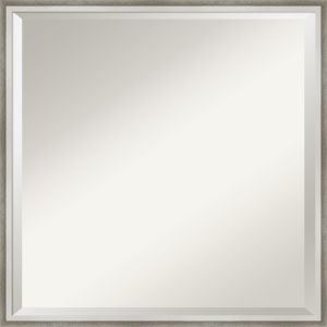 Lucie White and Silver 21W X 21H-Inch Bathroom Vanity Wall Mirror