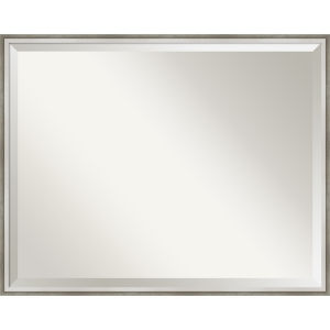 Lucie White and Silver 29W X 23H-Inch Bathroom Vanity Wall Mirror