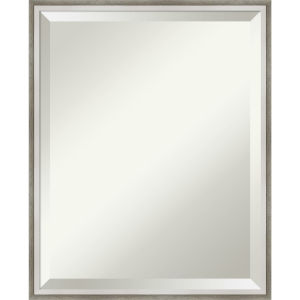 Lucie White and Silver 17W X 21H-Inch Bathroom Vanity Wall Mirror