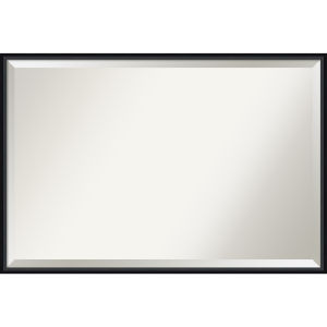 Lucie Black 37W X 25H-Inch Bathroom Vanity Wall Mirror