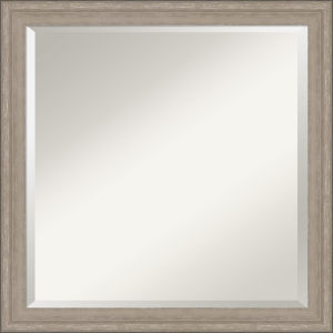 Gray Frame 23W X 23H-Inch Bathroom Vanity Wall Mirror