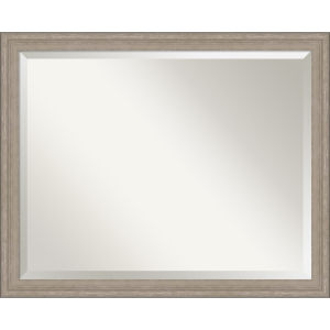 Gray Frame 31W X 25H-Inch Bathroom Vanity Wall Mirror