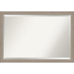 Gray Frame 39W X 27H-Inch Bathroom Vanity Wall Mirror