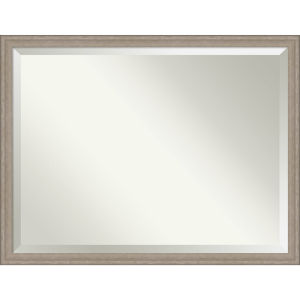 Gray Frame 43W X 33H-Inch Bathroom Vanity Wall Mirror