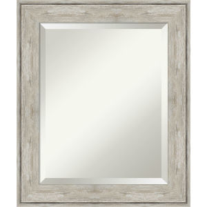 Crackled Silver 21W X 25H-Inch Bathroom Vanity Wall Mirror