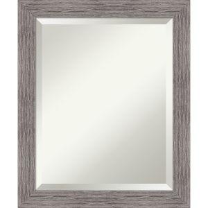 Pinstripe Gray 20W X 24H-Inch Bathroom Vanity Wall Mirror