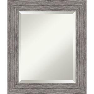 Pinstripe Gray 22W X 26H-Inch Bathroom Vanity Wall Mirror