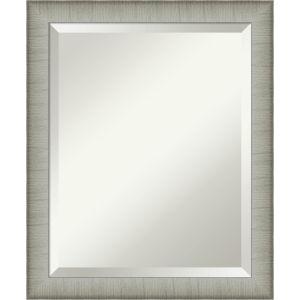 Elegant Pewter 19W X 23H-Inch Bathroom Vanity Wall Mirror