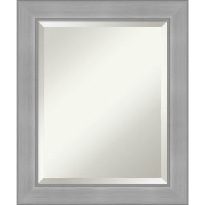 Vista Brushed Nickel 21W X 25H-Inch Bathroom Vanity Wall Mirror