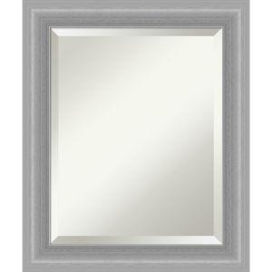 Peak Brushed Nickel 21W X 25H-Inch Bathroom Vanity Wall Mirror