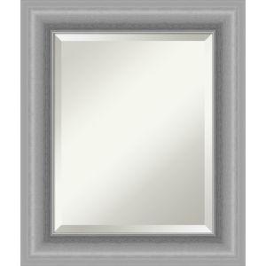 Peak Brushed Nickel 22W X 26H-Inch Bathroom Vanity Wall Mirror