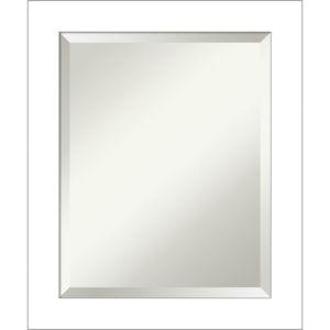 Wedge White 20W X 24H-Inch Bathroom Vanity Wall Mirror