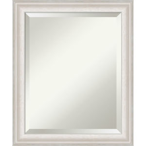 Trio White and Silver 20W X 24H-Inch Bathroom Vanity Wall Mirror