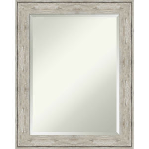 Crackled Silver 23W X 29H-Inch Bathroom Vanity Wall Mirror