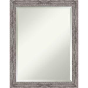 Pinstripe Gray 22W X 28H-Inch Bathroom Vanity Wall Mirror