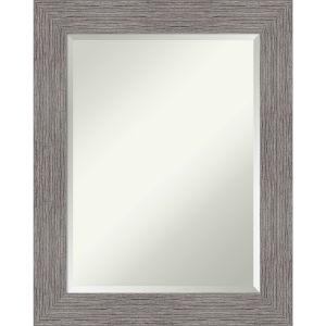Pinstripe Gray 24W X 30H-Inch Bathroom Vanity Wall Mirror