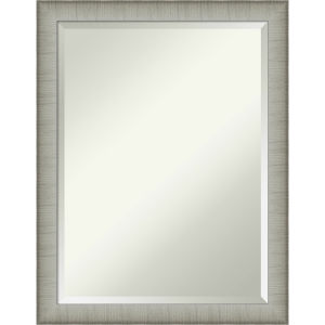 Elegant Pewter 21W X 27H-Inch Bathroom Vanity Wall Mirror