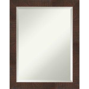 Wildwood Brown 22W X 28H-Inch Bathroom Vanity Wall Mirror