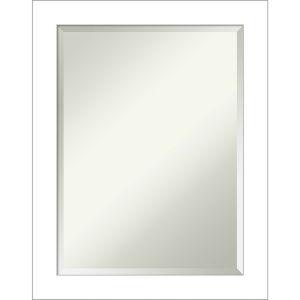 Wedge White 22W X 28H-Inch Bathroom Vanity Wall Mirror