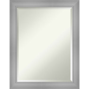Flair Brushed Nickel 22W X 28H-Inch Bathroom Vanity Wall Mirror