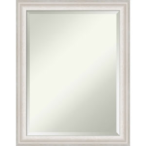 Trio White and Silver 22W X 28H-Inch Bathroom Vanity Wall Mirror