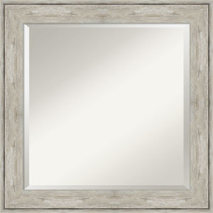 Crackled Silver 25W X 25H-Inch Bathroom Vanity Wall Mirror