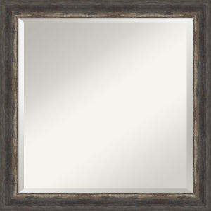 Bark Brown 24W X 24H-Inch Bathroom Vanity Wall Mirror