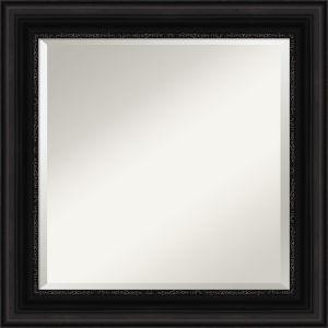 Parlor Black 26W X 26H-Inch Bathroom Vanity Wall Mirror