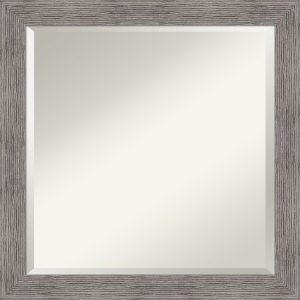 Pinstripe Gray 24W X 24H-Inch Bathroom Vanity Wall Mirror
