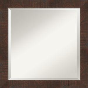Wildwood Brown 24W X 24H-Inch Bathroom Vanity Wall Mirror