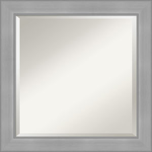 Vista Brushed Nickel 25W X 25H-Inch Bathroom Vanity Wall Mirror