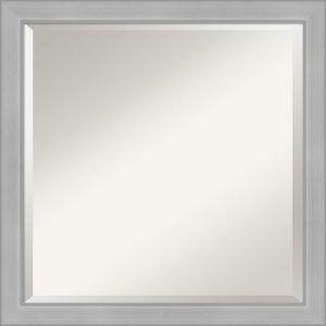 Vista Brushed Nickel 23W X 23H-Inch Bathroom Vanity Wall Mirror