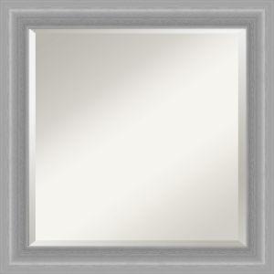Peak Brushed Nickel 25W X 25H-Inch Bathroom Vanity Wall Mirror