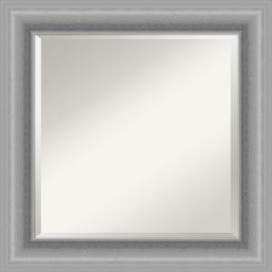 Peak Brushed Nickel 26W X 26H-Inch Bathroom Vanity Wall Mirror