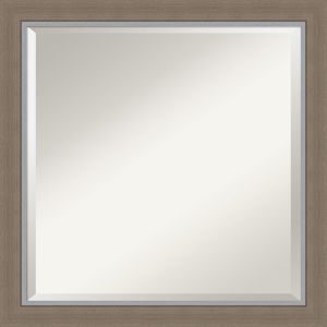 Eva Brown 23W X 23H-Inch Bathroom Vanity Wall Mirror