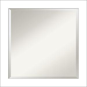 Wedge White 24W X 24H-Inch Bathroom Vanity Wall Mirror