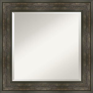 Rail Brown 26W X 26H-Inch Bathroom Vanity Wall Mirror