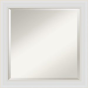 Flair White 24W X 24H-Inch Bathroom Vanity Wall Mirror