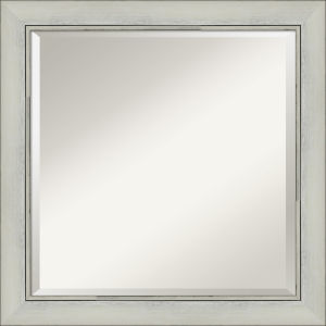 Flair Silver 24W X 24H-Inch Bathroom Vanity Wall Mirror
