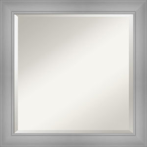 Flair Brushed Nickel 24W X 24H-Inch Bathroom Vanity Wall Mirror