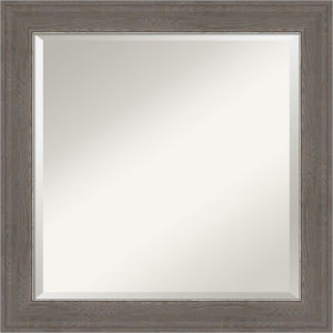 Alta Brown and Gray 25W X 25H-Inch Bathroom Vanity Wall Mirror
