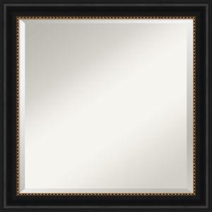 Manhattan Black 24W X 24H-Inch Bathroom Vanity Wall Mirror